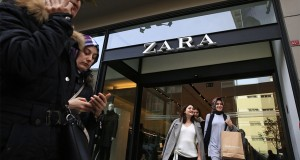 "People exit and walk past a fashion retailer Zara branch in an Istanbul upscale neighbourhood, Friday, Nov. 3, 2017. Shoppers at Zara in Istanbul have found unusual tags on their garments: put there by Turkish workers complaining they have not been paid for the manufacturing the merchandise in the store. Workers of an outsource manufacturer have been leaving tags inside clothes saying: ""I made this item you are going to buy, but I didn't get paid for it.""  (AP Photo/Lefteris Pitarakis)"