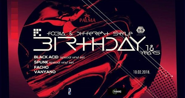 Fobia Different Style Birthday - Palma Tuzla_Flyer
