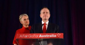 MELBOURNE, AUSTRALIA - MAY 18: Leader of the Opposition and Leader of the Labor Party Bill Shorten, flanked by his wife Chloe Shorten concedes defeat following the results of the Federal Election at Hyatt Place Melbourne in Melbourne, Australia on May 18, 2019. ( Recep Şakar - Anadolu Agency )