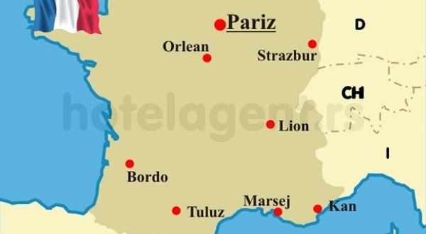 mapa francuske Francuska: Iz sigurnosnih razloga sa granice vraćeno više od  mapa francuske