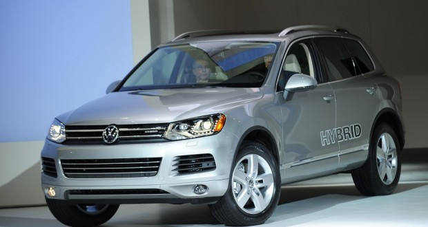 The Volkswagen Touareg Hybrid Is Introduced At New York International Auto Show March 31