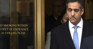 """US President Donald Trump's former attorney Michael Cohen leaves US Federal Court in New York on December 12, 2018 after his sentencing after pleading guilty to tax evasion, making false statements to a financial institution, illegal campaign contributions, and making false statements to Congress. - US President Donald Trump's former lawyer Michael Cohen delivered a blistering attack on his former boss as he was sentenced to three years in prison on December 12, 2018 for multiple crimes. """"It was my duty to cover up his dirty deeds,"""" Cohen said as he pleaded for leniency before US District Judge William H. Pauley III.Cohen, 52, said he was taking responsiblity for his crimes """"including those implicating the President of the United States of America."""" (Photo by TIMOTHY A. CLARY / AFP)"""