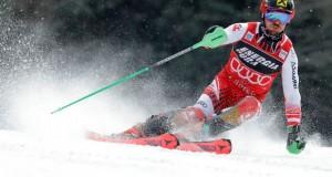 """Na Crvenom spustu na Sljemenu završena je 10. utrka najboljih svjetskih slalomaša """"Snow Queen Trophy"""" na kojoj je po peti put slavio najbolji skijaš današnjice, Austrijanac Marcel Hirscher ( Stipe Majic - Anadolu Agency )"""